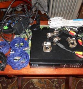 Видеорегистратор DVR-404 c 4 видеокамерами