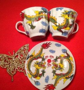 Драконы,посуда,тарелки,чашки
