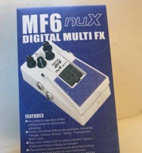 Педаль эффектов NUX MF6 digital multi fx
