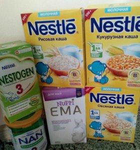 каша, смесь, детское питание nestle
