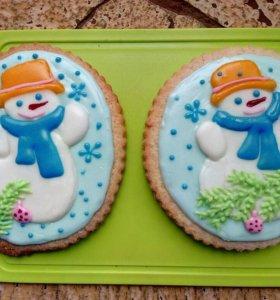 Имбирное  печенье 1 шт