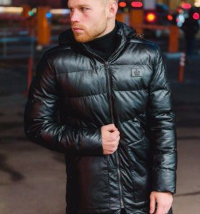 кожаная зимняя куртка dolce