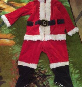 Новогодний Детский Костюм Санты