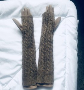 Перчатки длинные трикотажные
