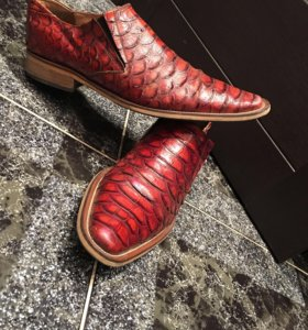 Мужские туфли кожа натур крокодилов