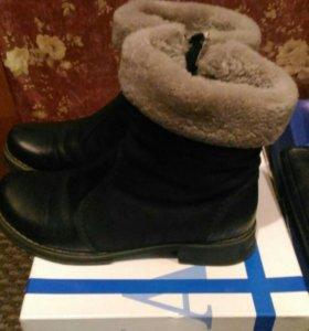 Ботинки зимние 39
