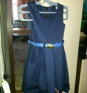 школьный сарафан и костюм(жилет, юбка)