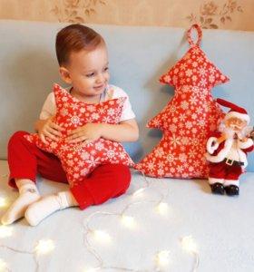 Набор из 2х новогодних подушек
