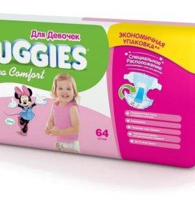 Huggies Ultra Comfort для девочек 5 64 шт.