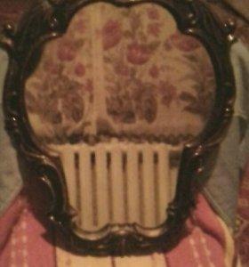 зеркало с медной рамкой