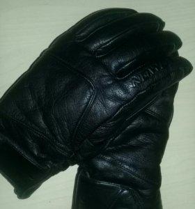 Мужские зимние кожаные перчатки SALOMON.