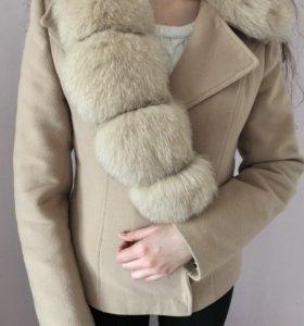 Драповое короткое пальто