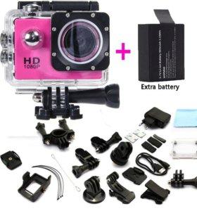 Sports cam 2-inch screen