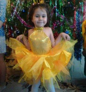 Новогодний костюм золотая рыбка