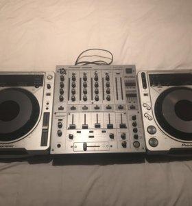 Комплект Pioneer CDJ800mk2 2 штуки + микшер DJM600