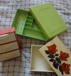 Шкатулки,коробки для рукоделия.