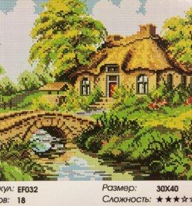 Алмазная мозаика на подрамнике 30х40