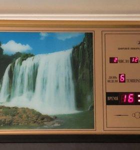 Электронные часы-картина