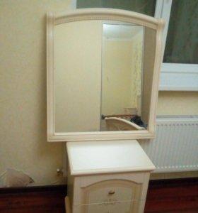 Продам прикроватную тумбу и зеркало