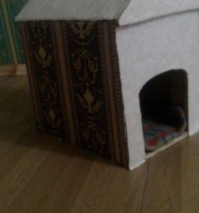 Домик для кошек или собак маленький пород