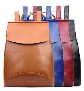 Стильный женский рюкзак, синий цвет