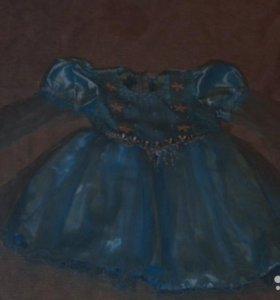 Продам голубое детское платье