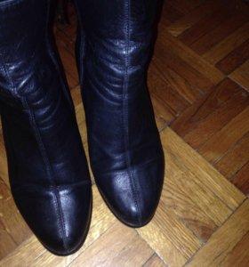Ботинки кожаные  34 размер