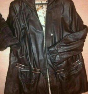Куртка кожаная. Р. 56-58
