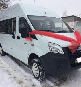 Заказ микроавтобуса Газель next 16 мест 2017 г