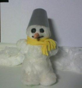 Самодельный снеговик ( папье-маше )