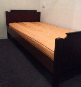 Кровать массив с матрасом