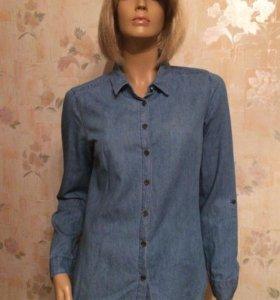 Джинсовая рубашка м
