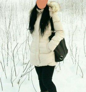 Зимняя куртка, пуховик Zara. S 42-44