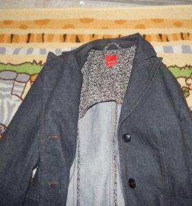 джинсовый пиджак эсприт