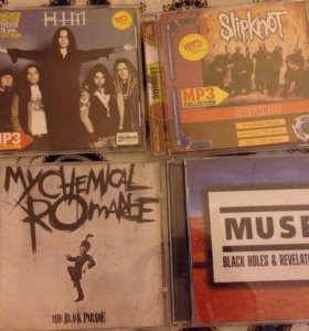 Диски Evanescence, Him, Muse, Slipknot,My Chemical