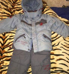 Зимний костюм с полукомбинезоном