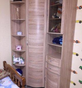 Шкаф угловой+шкаф-пенал+стеллаж