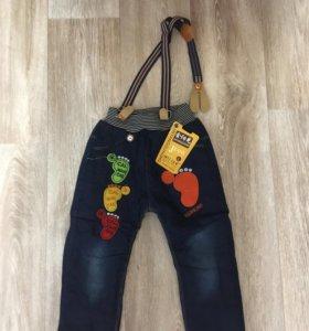 Утеплённые джинсы 86