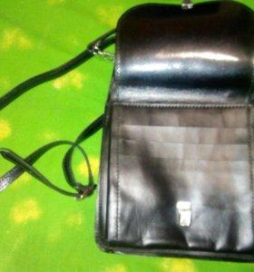 Мужская сумка,новая,натуральная кожа