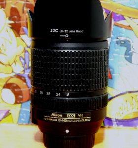 объектив Nikon DX VR AFS 18-140