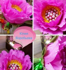 Макси цветок из чупа чупсов