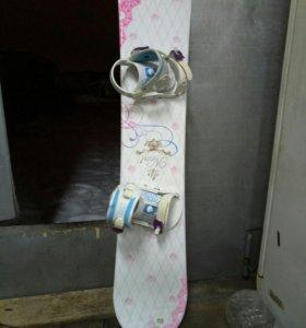 Доска для сноуборда + ботинки + шлем + защита