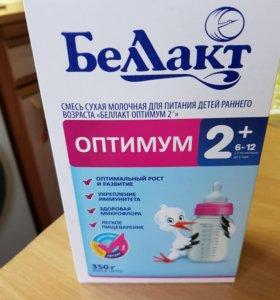 Смесь сухая молочная для детей. Беллакт оптимум 2+