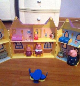 Замок Свинки Пеппы + Королевская семья.