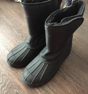 Сапоги зимние чёрные. 31217