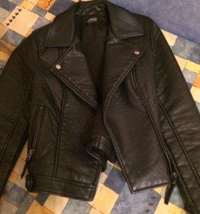 Куртка-косуха TOPSHOP со съемным мех. воротником