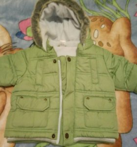 Куртка новая 3-6мес