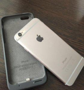 Тел iPhone 6,124GB,серебристый