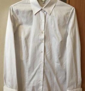 Белая женская классическая рубашка Koton