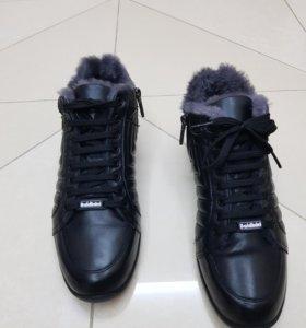 Мужские зимние кожаные ботинки Baldinini, оригинал